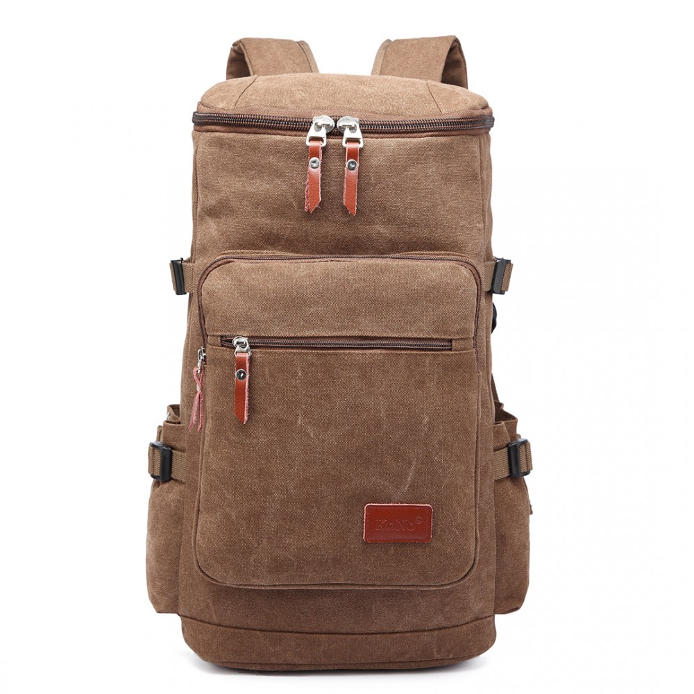 Multifunktionell Ryggsäck canvas 45 l Brun