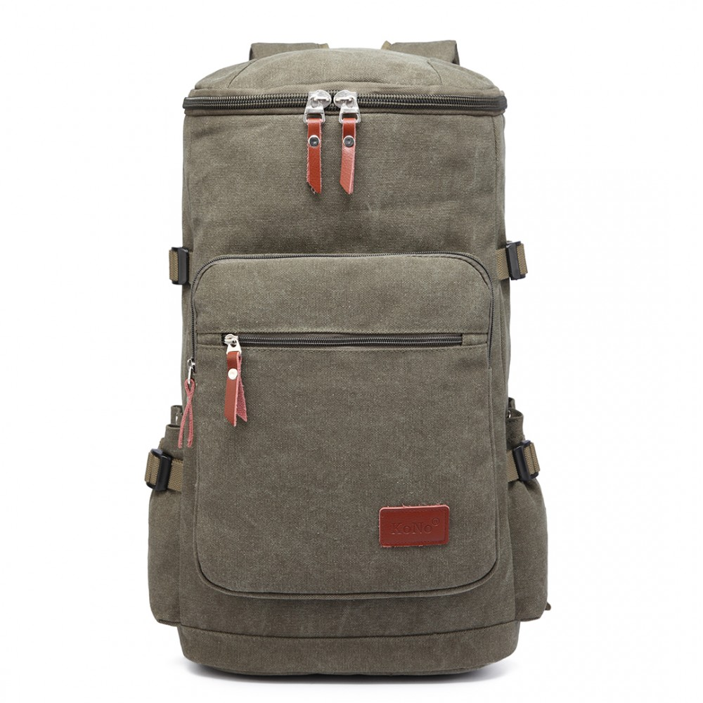 Multifunktionell Ryggsäck canvas 45 l Grön