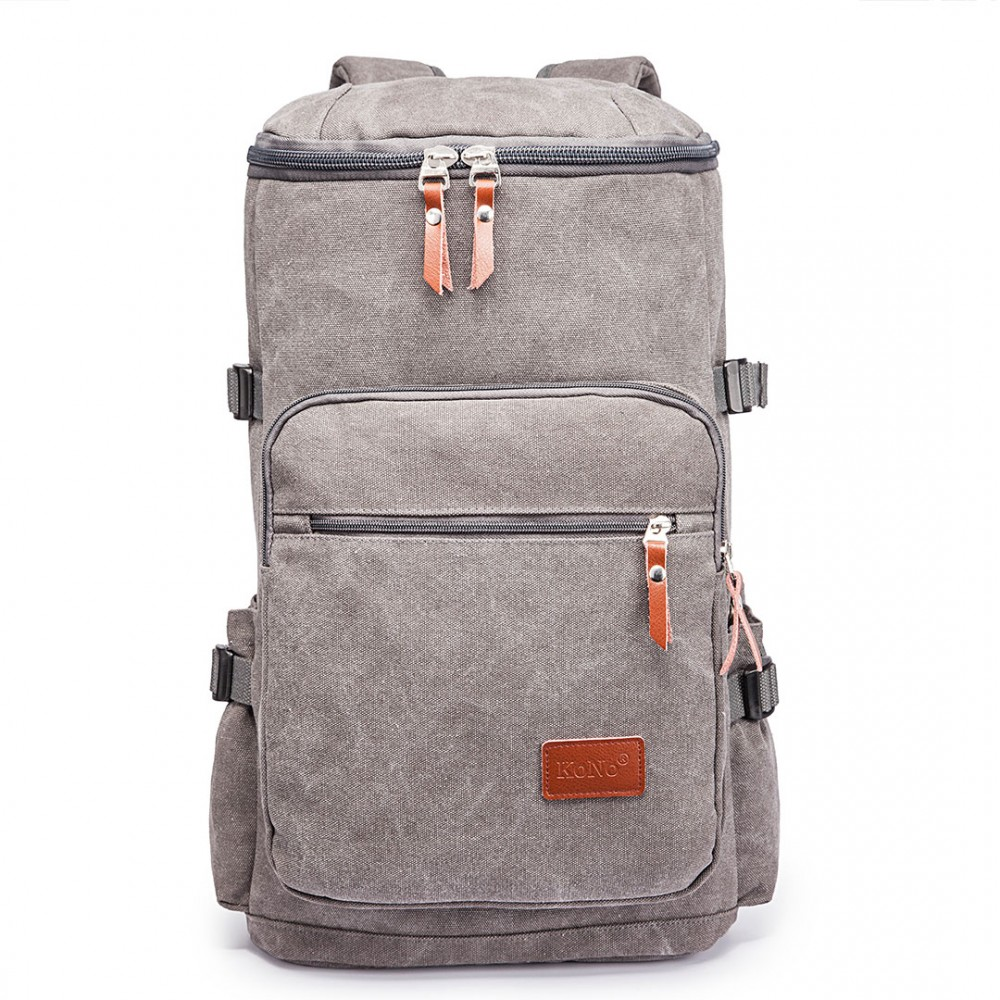 Multifunktionell Ryggsäck canvas 45 l Grå