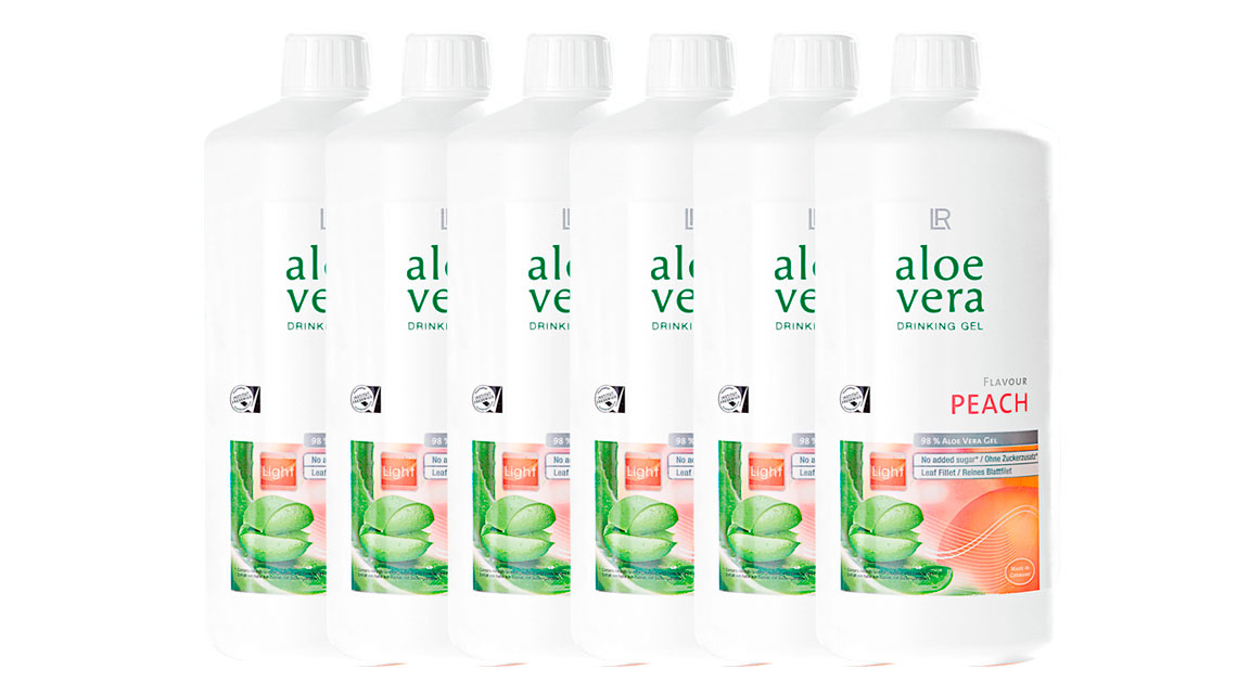 Aloe Vera Drinking Gel Peach 6-pack