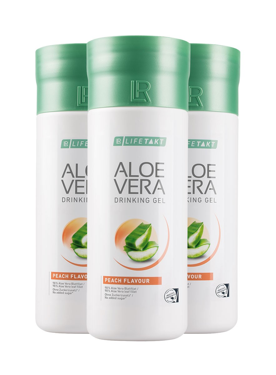 Aloe Vera Drinking Gel Peach 3-pack