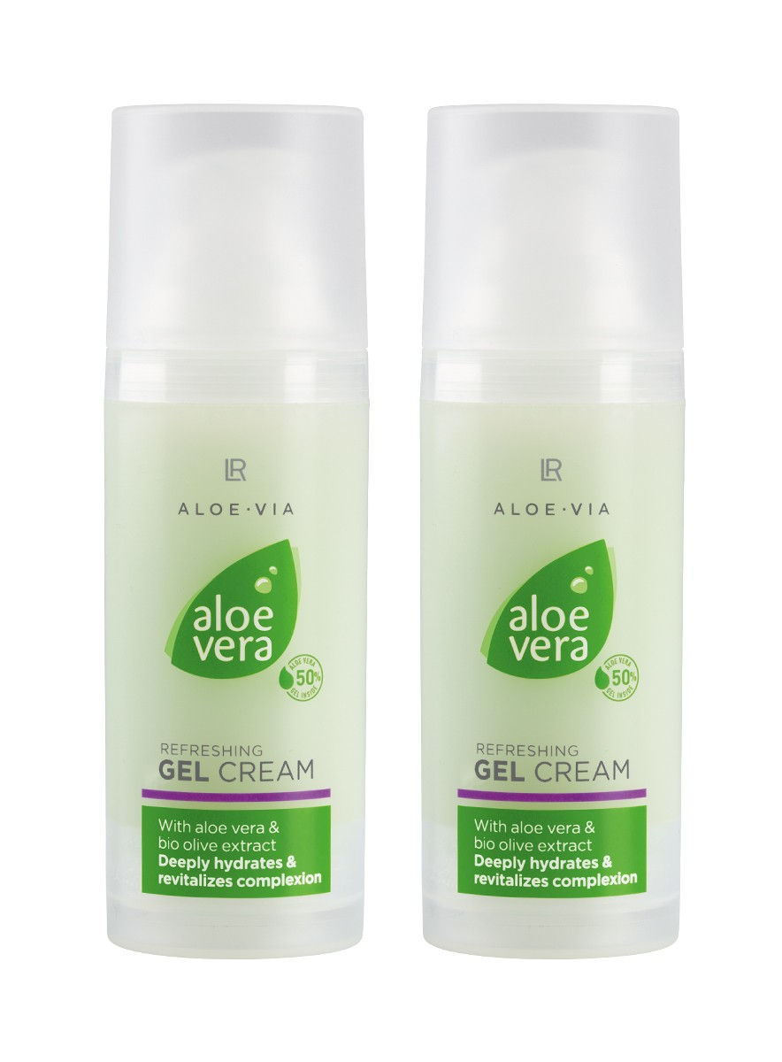 Aloe Vera Refreshing Gel Cream, 2-pack